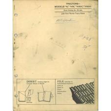 John Deere HN Tractor Parts Manual (NOS)