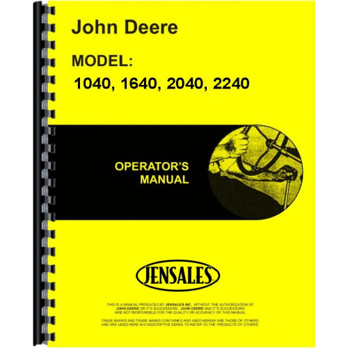 john deere 1040 tractor operators manual rh jensales com john deere 1010 manual pdf john deere 1010 manual free download