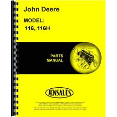 John Deere 116 Lawn & Garden Tractor Parts Manual