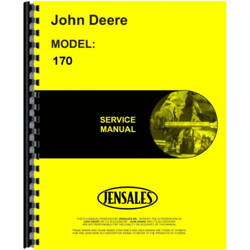 John Deere 170 Skid Steer Loader Service Manual
