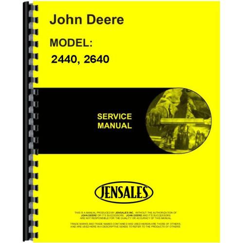 John deere 2640 tractor service manual (sn# 0-340,999).
