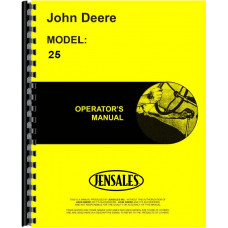 John Deere 25 Combine Operators Manual (25-145,000 & up)