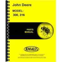 John Deere 316 Lawn & Garden Tractor Parts Manual (Hydrostatic)