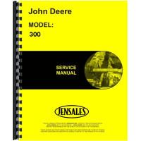 John Deere 300 Wheel Loader Service Manual (Wheel Tractor & Loader - includes both volumes)