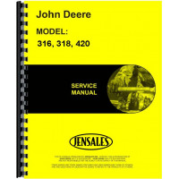 John Deere 316 Lawn & Garden Tractor Service Manual (Chassis Only)
