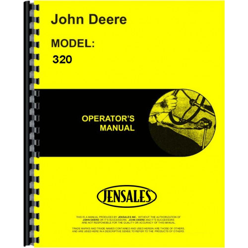 image of the john deere 320 tractor operators manual - pdf preview below