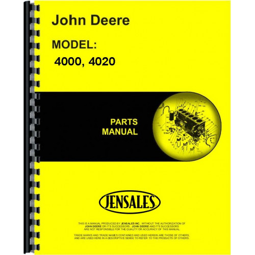 John Deere 4020 Tractor Parts Manual Sn 201000 And Up 201000