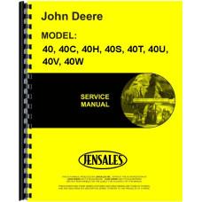 John Deere 40T Tractor Service Manual