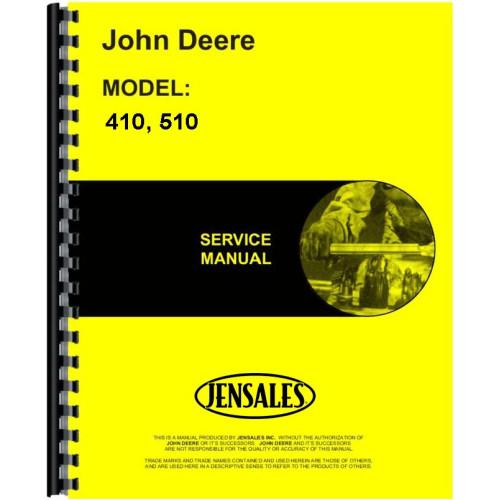 John Deere 510 Round Baler Service Manual