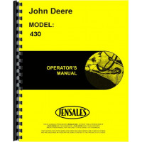 John Deere 430 Tricycle Tractor Operator's Manual