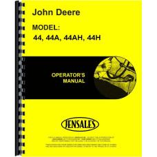 John Deere 44A Plow Operators Manual
