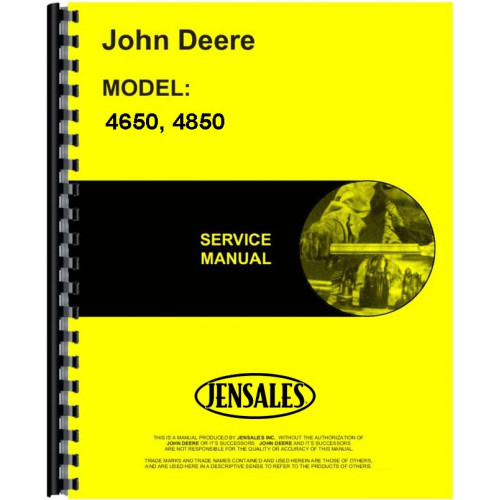 John Deere 4850 Tractor Service Manual - Chassis Only