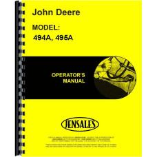 John Deere 495A Corn Planter Operators Manual