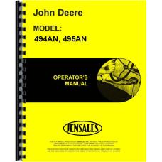 John Deere 495AN Corn Planter Operators Manual