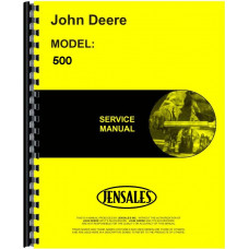 John Deere 500 Industrial Tractor Service Manual (Construction Tractor - includes both volumes)