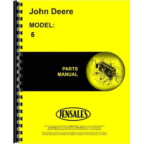 John Deere 5 Sickle Bar Mower Parts Manual