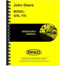 John Deere 670 Tractor Operators Manual