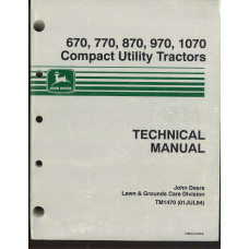 John Deere 670 Tractor Service Manual