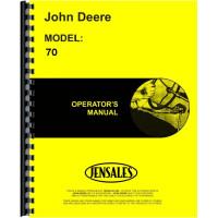 John Deere 70 Tractor Operators Manual