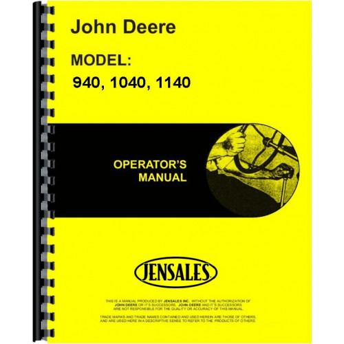 john deere 1140 tractor operators manual rh jensales com john deere 1120 operators manual John Deere Cartoon Safety Speed