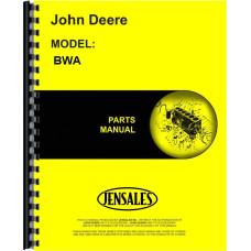 John Deere BWA Disc Harrow Parts Manual