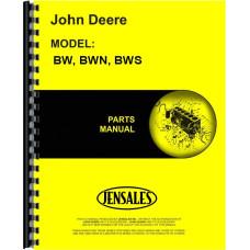 John Deere BW Disc Harrow Parts Manual