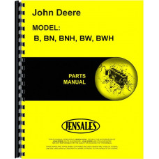 John Deere BWH Tractor Parts Manual (SN# 60000 and Up) (60000+)