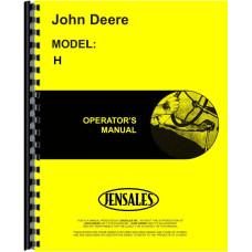 John Deere H Tractor Operators Manual