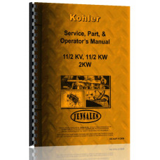 Image of Kohler 1.5KVA, 1.5KW, 2KW Electric Plant Service Manual