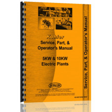 Kohler 5KW, 10KW Electric Plant Service Manual (5KW&10KW)