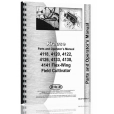 Image of Krause 4118, 4120, 4122, 4126, 4129, 4133, 4138, 4141 Flex-Wing Field Cultivator Operators & Parts Manual (Flex Wing Field)