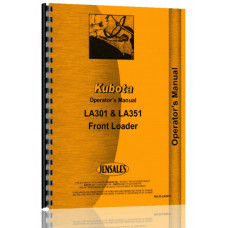 Kubota LA301 Loader Attachment for B1700, B2100, B2400 Tractor Operators Manual