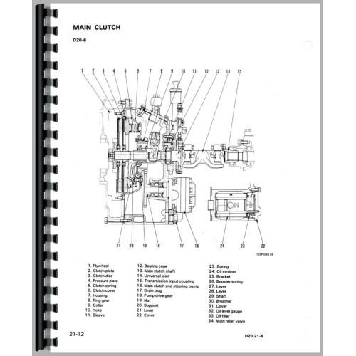 Komatsu D20A-6 Crawler Service Manual (SN# 60001 and Up) (Chis) on