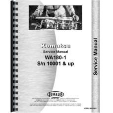 Komatsu WA180-1 Wheel Loader Service Manual (SN# 10001 and up)