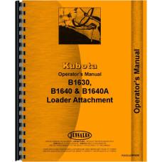 Kubota B1630 Loader Attachment for B5200E Tractor  Operators Manual (For B5200E)