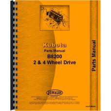 Kubota B8200 Tractor Parts Manual