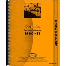Kubota B8200HST-D Tractor Operators Manual