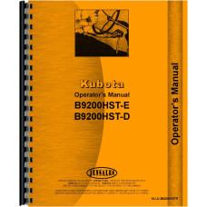 Kubota B9200HST-D Tractor Operators Manual