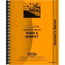 Kubota M4500 Tractor Operators Manual