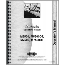 Kubota M5500DT Tractor Operators Manual