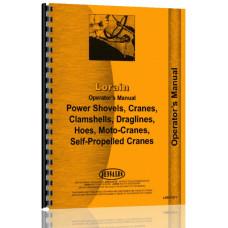 Lorain 40A Crawler Crane, Boom, Shovel Operators Manual