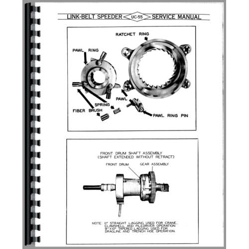 link belt speeder ls 98 drag link or crane parts manual