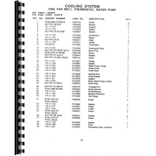 Long 610 Tractor Parts Manual Includes 2 Volumes