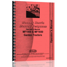 Massey Ferguson 1650 Lawn & Garden Tractor Operators Manual