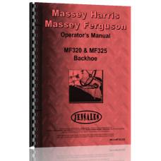 Massey Ferguson 325 Backhoe Attachment Operators Manual