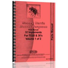 Ferguson TE20 Implements Parts Manual