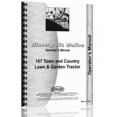 Minneapolis Moline 107 Lawn & Garden Tractor Operators Manual