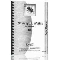 Minneapolis Moline 445 Tractor Parts Manual (R-1157C) (RC & Utility)