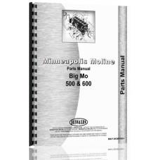 Minneapolis Moline Big MO 500 Tractor Parts Manual (SN# R2060A) (500)