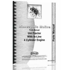 Image of Minneapolis Moline Uni-Tractor Tractor Parts Manual (SN# R-2039A)